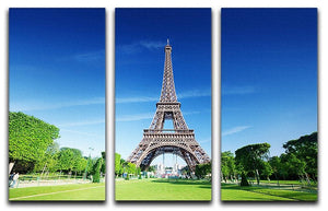 sunny morning and Eiffel Tower 3 Split Panel Canvas Print - Canvas Art Rocks - 1