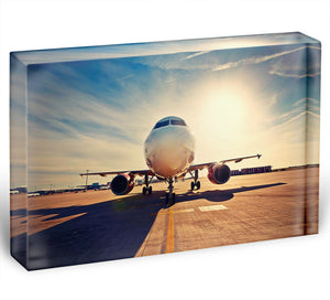 take off at the sunrise Acrylic Block - Canvas Art Rocks - 1
