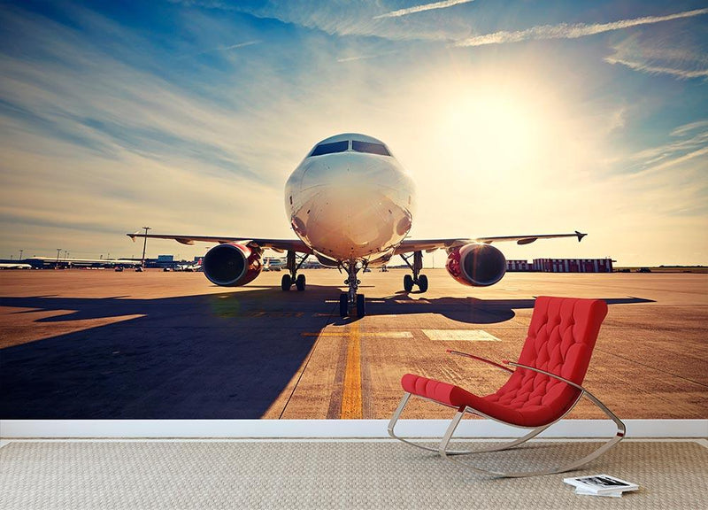 take off at the sunrise Wall Mural Wallpaper - Canvas Art Rocks - 1