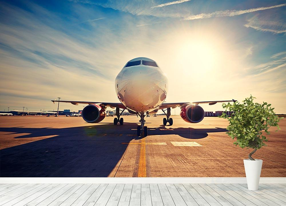 ... take off at the sunrise Wall Mural Wallpaper - Canvas Art Rocks - 4