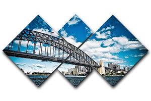 the bridge 4 Square Multi Panel Canvas  - Canvas Art Rocks - 1