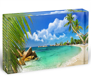 tropical paradise Acrylic Block - Canvas Art Rocks - 1