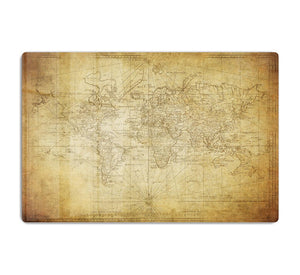 vintage map of the world 1778 HD Metal Print