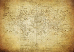 vintage map of the world 1778 Wall Mural Wallpaper - Canvas Art Rocks - 1