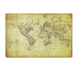 vintage map of the world 1831 HD Metal Print