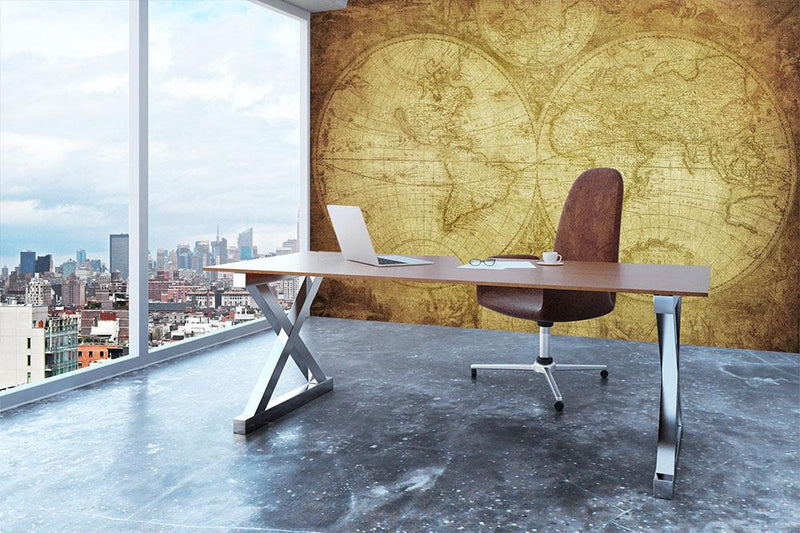 vintage map of the world Wall Mural Wallpaper - Canvas Art Rocks - 3