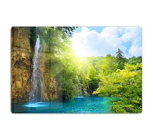 waterfalls in deep forest HD Metal Print - Canvas Art Rocks - 1