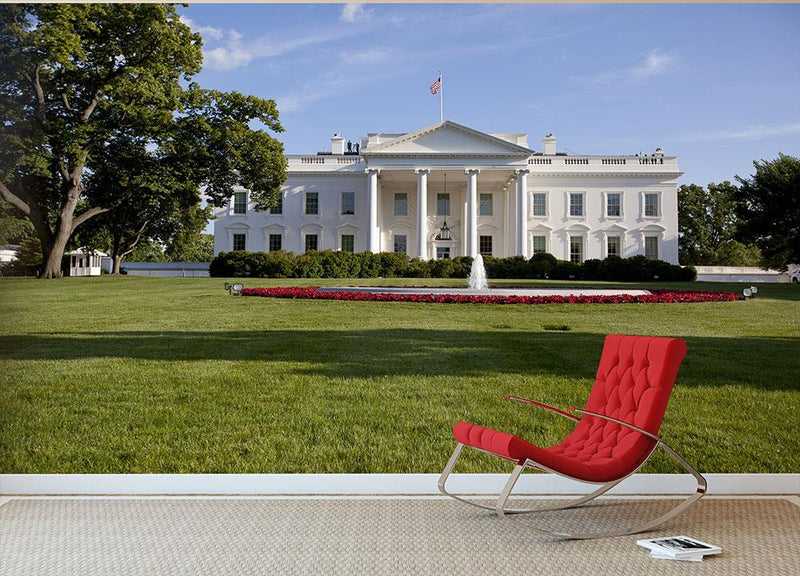 white house washington dc Wall Mural Wallpaper - Canvas Art Rocks - 1