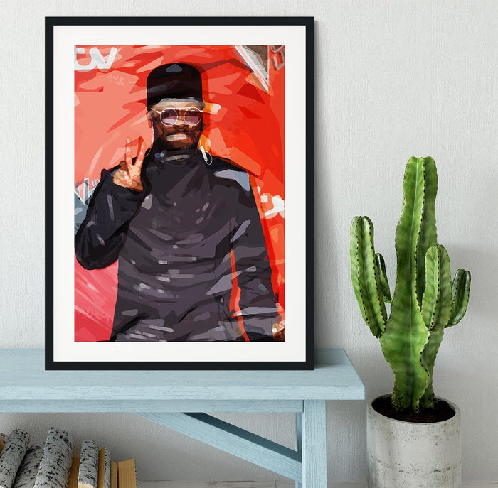 will I am Pop Art Framed Print