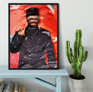 will I am Pop Art Framed Print - Canvas Art Rocks - 2