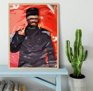 will I am Pop Art Framed Print - Canvas Art Rocks - 4