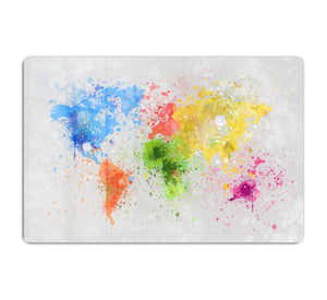 world map painting HD Metal Print