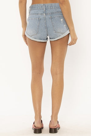 Crossroads Denim Woven Short - Sun Fade Wash