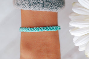 Braided Bracelet in Seafoam