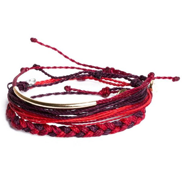 Braided Bracelet in Red Shades