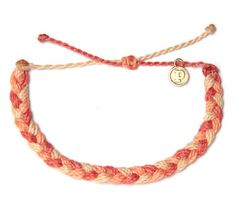 Braided Bracelet in Peaches & Cream