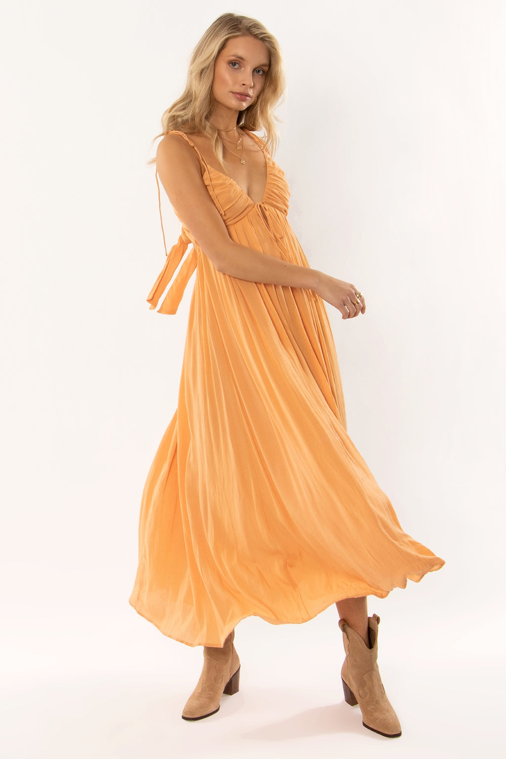 Kamari Dress in Sahara Sand