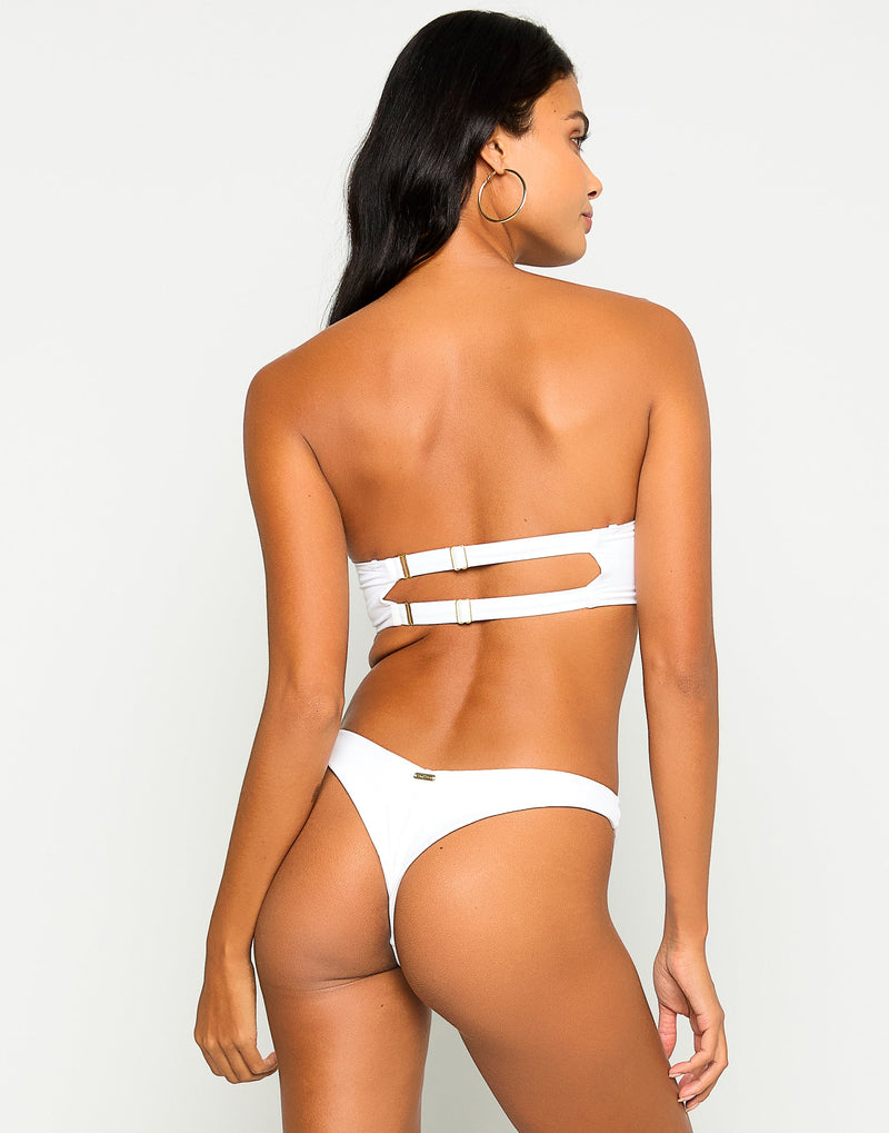 Chrissy Micro Tango Brazilian Bikini Bottom in White - Alternate Front View?id=13899147509891