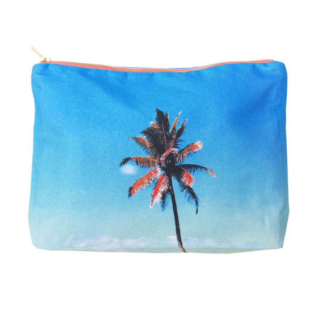 Blue Palm Pouch