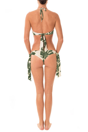 Greenlee Swim Green Leaf Cheeky Tie Side