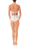 Greenlee Swim White Lotus Scoop Halter Top