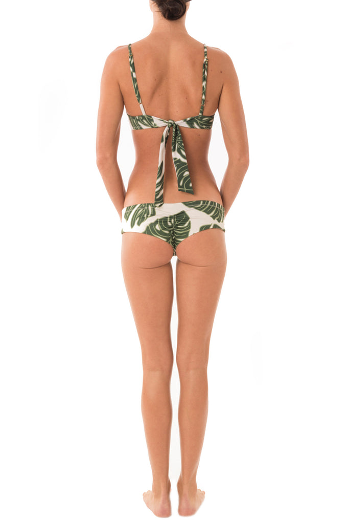 Greenlee Swim Green Leaf Euro Short