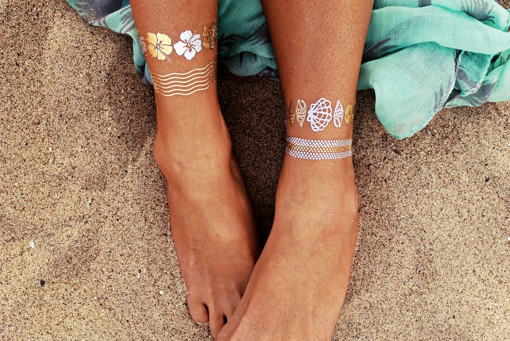 Flash Tattoos - Goldfish Kiss H2O