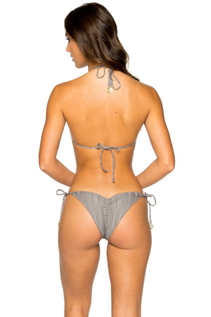 Turi Turai Wavy Ruched Back Brazilian Tie Side Bottom