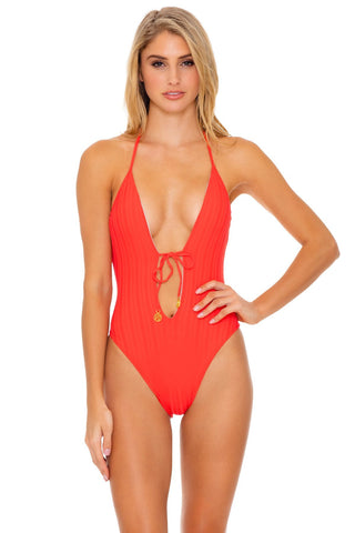 Mikoh Moorea One Piece in Polynesian Palm Persimmon
