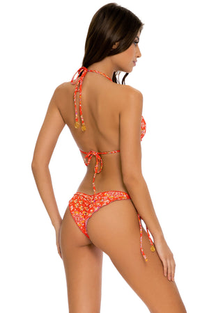 Calypso Wavey Ruched Back Tie Side Bottom