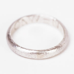 Handmade Hammered Sterling Silver Band