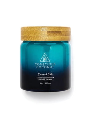 Coconut Oil Jar - Aqua