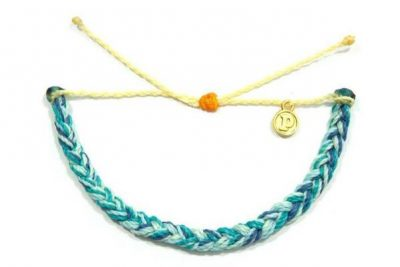 Braided Bracelet in Beach Blues