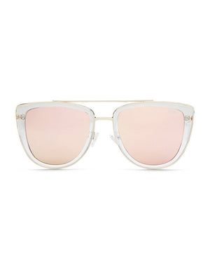French Kiss Sunglasses - Clear/Rose