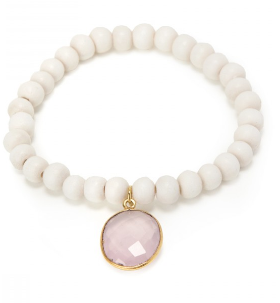 Maldives Bracelet - Rose Quartz