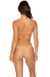 Jagged Bombshell Wavey Ruched Back Braz Tie Side Bottom
