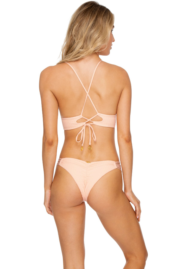 Jagged Bombshell Strappy Brazilian Ruched Back Bottom