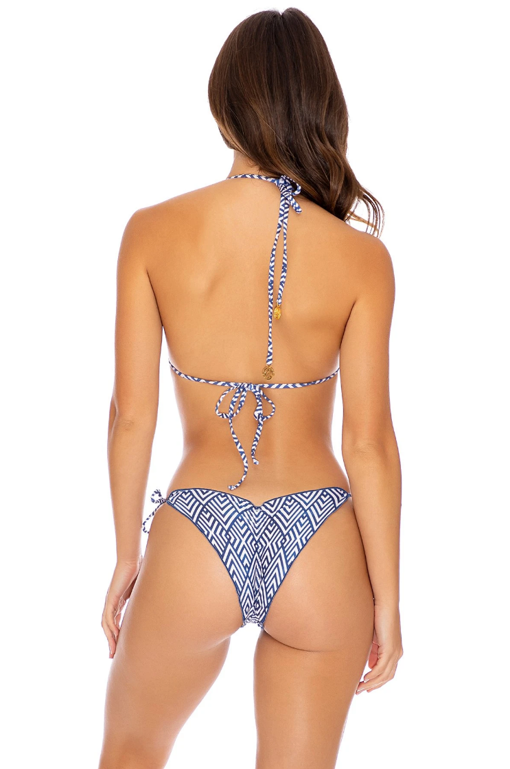 Mesmerized Wavey Ruched Back Tie Side Bottom