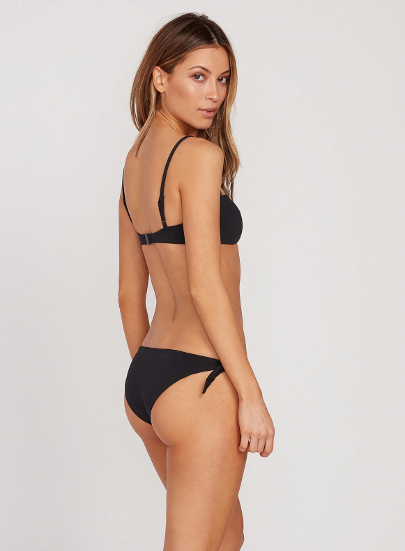 Simply Seamless Tie Side Bottom in Black