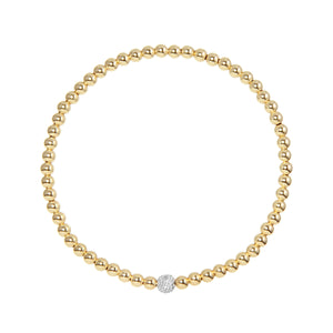 Gold Fill Stretch Bracelet w/Diamond