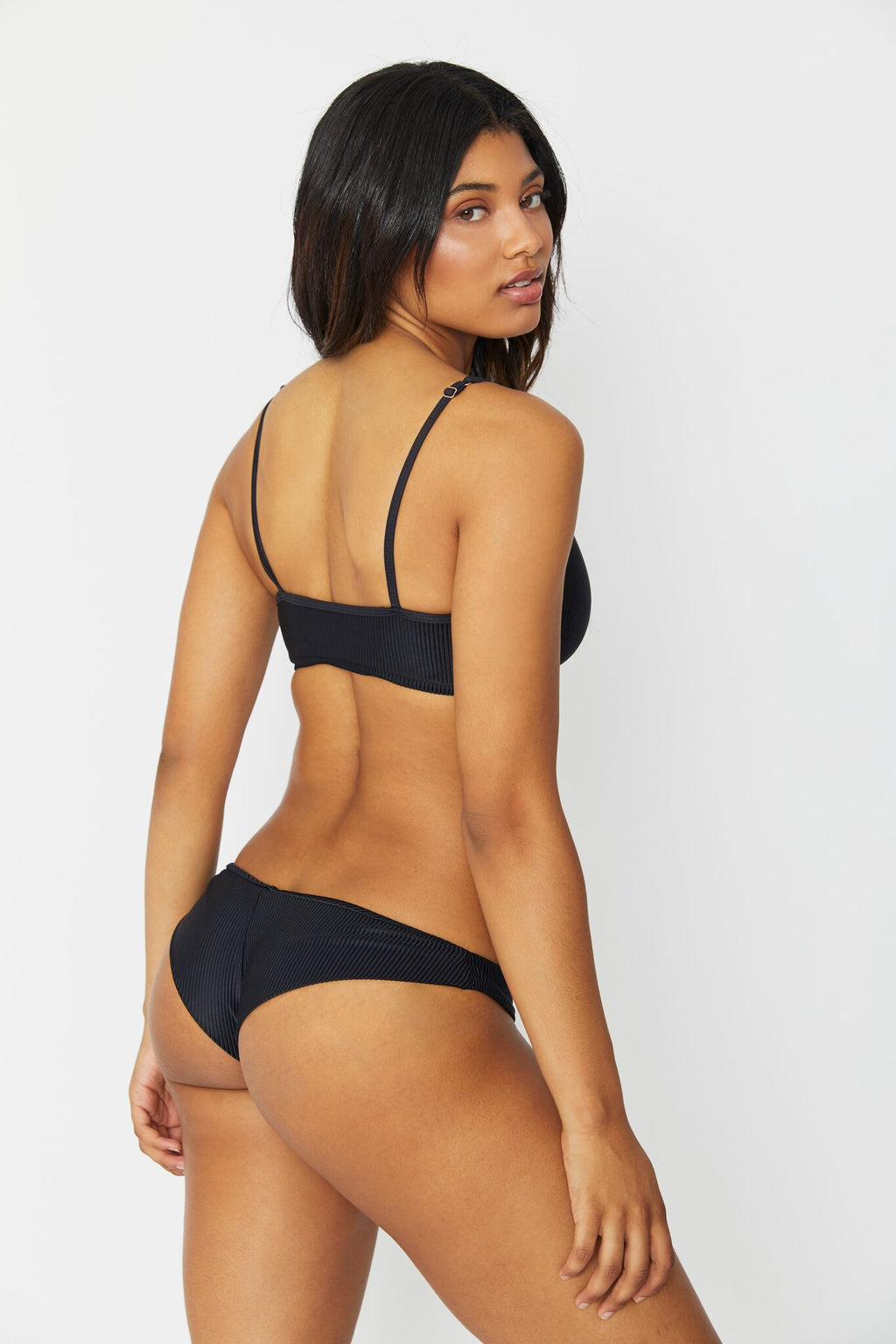 Greer Ribbed Bottom in Black