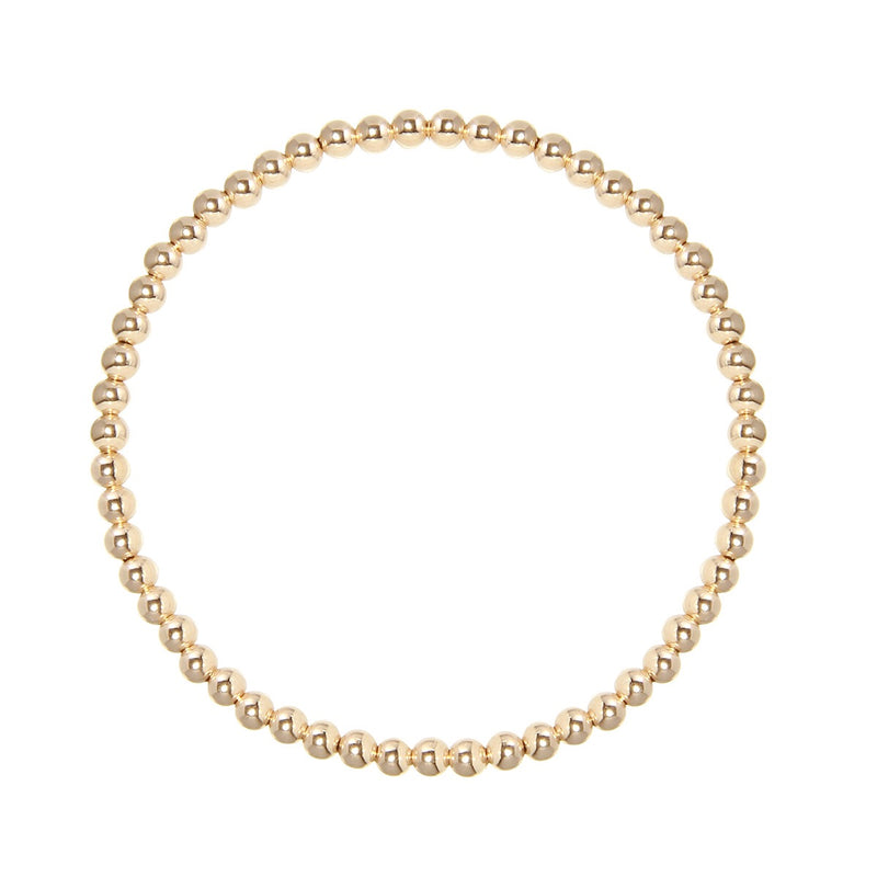 3mm Gold Fill Stretch Bracelet