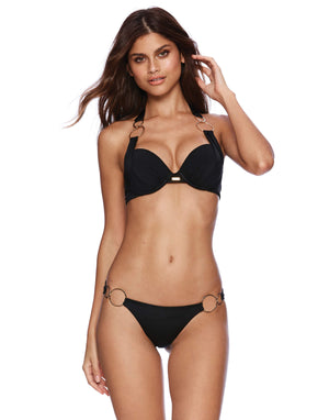 Lisa Push Up Top - Black