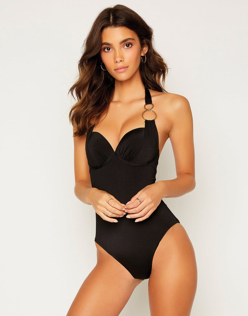 Lisa Full One Piece - Black