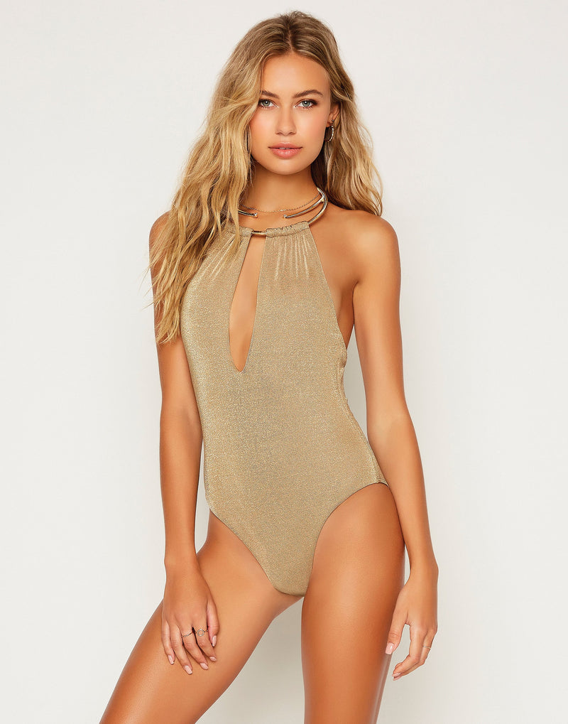 Madison One Piece in Tortuga with Gold Hardware - Detail View ?id=16706889056387
