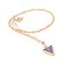 Vintage Triangle Charm Necklace
