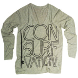 Consurfvation Outline Long Sleeve in Oatmeal Heather