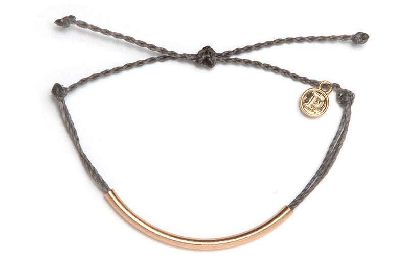 Gold Bar Bracelet in Grey