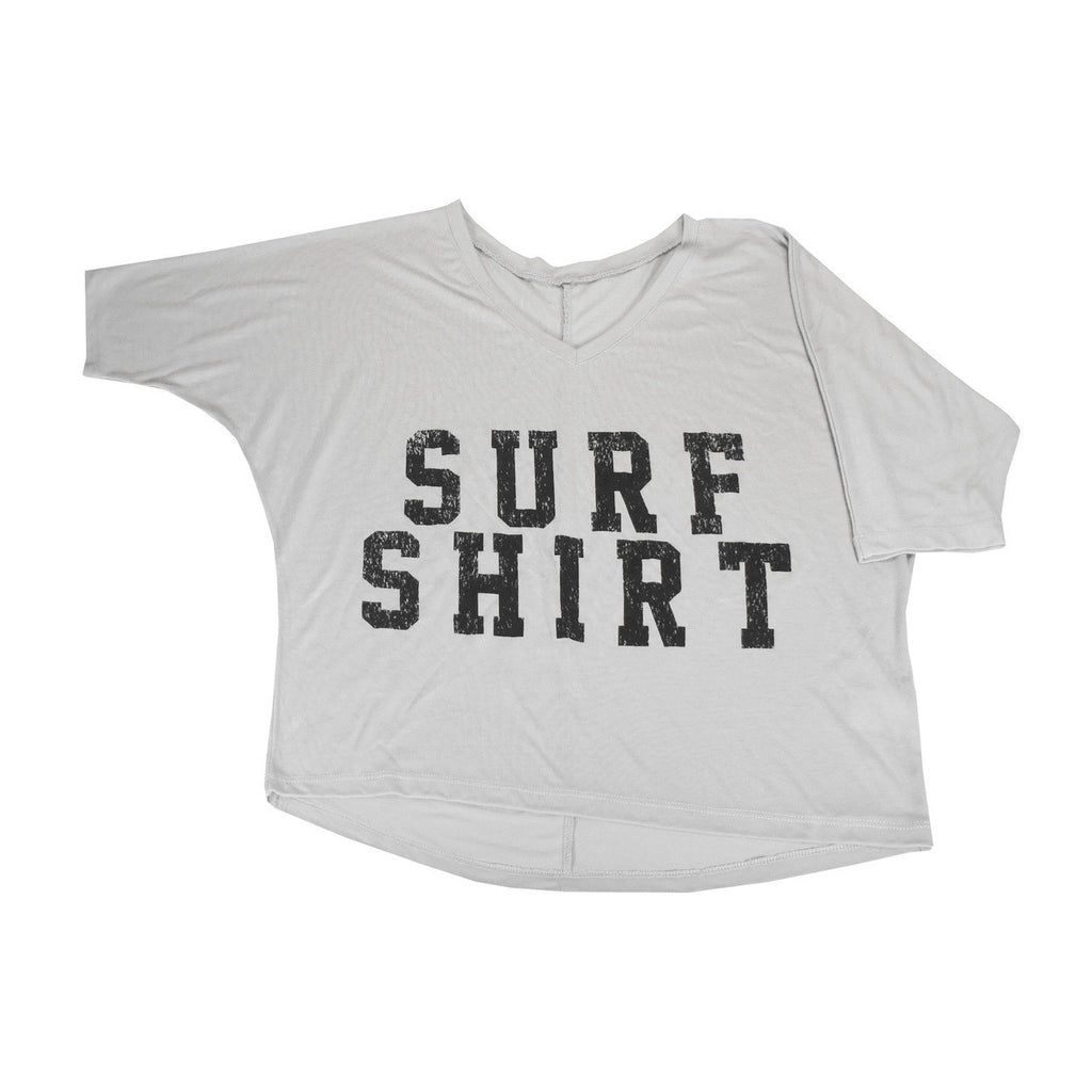 Consurfvation V-Neck 3/4 Dolman Sleeve Crop Tee - Surf Shirt