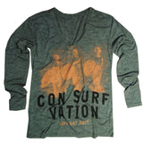 Consurfvation Surfer Girls in Ash Heather